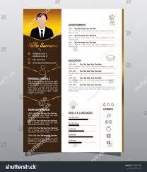 Resume Vector Vector Minimalist Cv Resume Design Dark Stock Vector 542428708