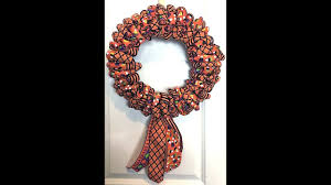 how to make a wreath from just ribbon for halloween or any