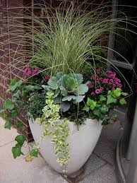 Outdoor Planter Ideas by Fabulous Fall Flower Containers Planters