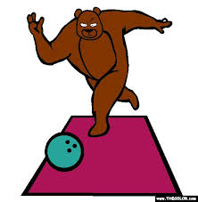 bowling bear coloring bowling coloring pages bowling