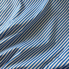 Blue And White Striped Upholstery Fabric All Match Pink Blue Green Yellow Stripe Fabric 100 Cotton Twill