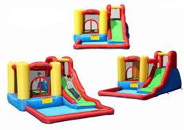 halloween bounce house amazon com bounceland jump and splash bounce house bouncer toys