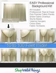 professional wedding backdrop kit 17 best backdrops for weddings images on