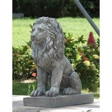 lions statues large outdoor lion statues wayfair