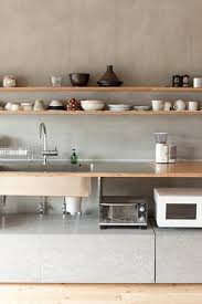 wood and concrete kitchen kitchens pinterest concrete