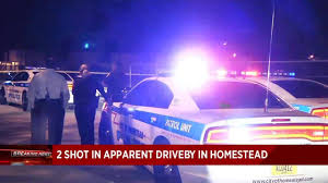 2 injured in apparent drive by shooting in homestead