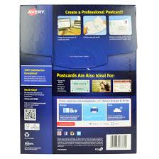 Avery Invitation Cards Avery Postcards Index Cards White 200 Pack Walmart Com