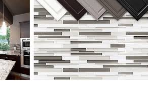 Modern Look Gray  White Color Glass Brick Backsplash Tile - Brick backsplash tile