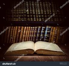 Background Bookshelf Open Old Book On Bookshelf Background Stock Photo 530116303