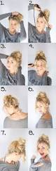 easy buns for long hair hair style and color for woman
