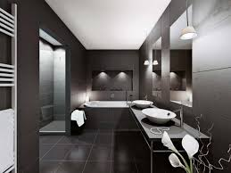 cave bathroom home design apartments black color theme minimalist style home design
