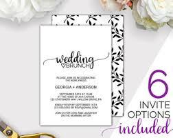 morning after wedding brunch invitations brunch invitation etsy