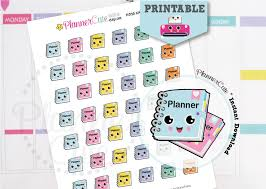 printable planner notes planner girl stickers kawaii printable planner stickers k010