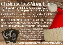 christmas craft u0026 vintage fair line up