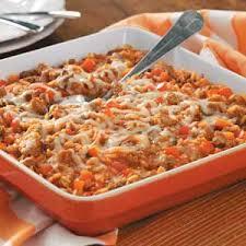 Dinner Casserole Ideas Italian Sausage Rice Casserole Recipe Taste Of Home