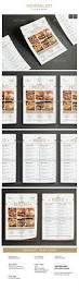 minimal restaurant food flyer menu template psd vector ai