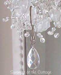 romantic shabby crystal chandelier teardrop shower curtain hooks chic