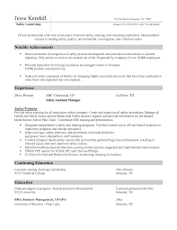 Sample Resume Objectives Construction Management by Ehs Resume Sample Resume For Your Job Application