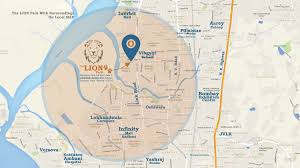 image of location map of the makwana the park goregaon west