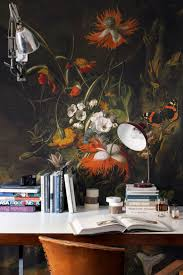 23 best dark florals images on pinterest wall murals bespoke a forest floor still life of flowers mural by rachel ruysch