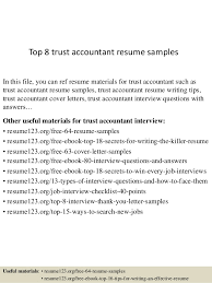 top 8 trust accountant resume samples 1 638 jpg cb u003d1432734724