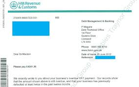 overdue vat payment letter from hmrc