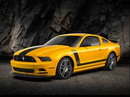 Mustang Boss 302 Black 2013 Ford Mustang Boss 302 Yellow With Black Stripe 3 4 Front View
