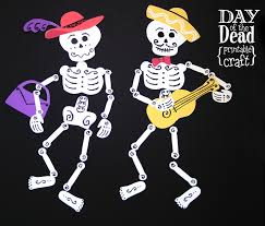 Halloween Skeleton Cut Out by Day Of The Dead Printables Craft Todaysmama