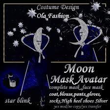 moon mask second marketplace moon mask avatar costume k