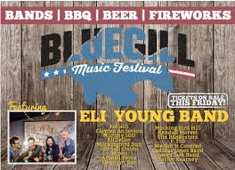 eli young band to headline first ever bluegill music festival at
