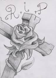rose and cross tattoos for men drawings pictures to pin on