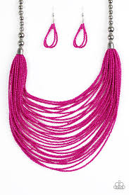 pink beads necklace images Paparazzi accessories bead brave pink jpg