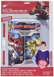 transformers party supplies transformers setter wall decorations kit kids birthday and