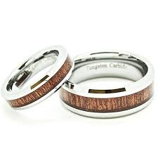 his and matching wedding bands matching 5mm 8mm tungsten wedding rings with wood