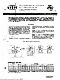 teel bronze rotary pump manual u0026 parts list belt mechanical pump