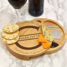 monogram cheese board personalised cheese board with monogram by giftsonline4u
