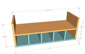 remodelaholic build a rolling shoe cubby bench