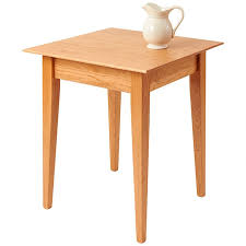 solid cherry wood end tables 22 square cherry shaker end table manchesterwood com