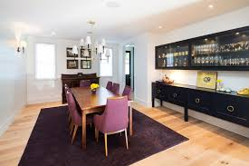 long buffet dining room transitional with built in cabinets bar