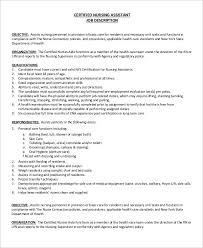 Resident Assistant Job Description For Resume by Cna Job Description Nursing Assistant Resume Templates Socialsci
