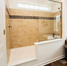 compact and accessible bathroom ideas with walk in showers with no