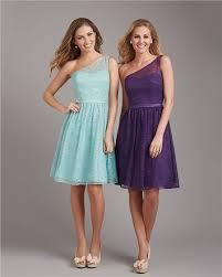 line one shoulder short purple lace wedding guest bridesmaid dress