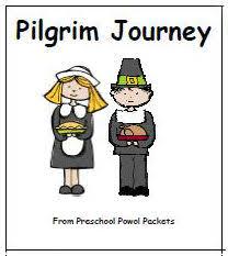 free mini book pilgrim journey preschool powol packets