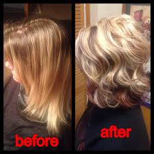 what do lowlights do for blonde hair before had about 3 inches of roots with a brassy blonde but now a