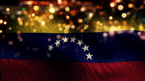 Flag Venezuela Venezuela Flag Light Night Bokeh Abstract Loop Animation Motion