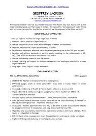 Host Job Description Resume by Unbelievable Design Resume Key Skills 3 Account Manager Resume
