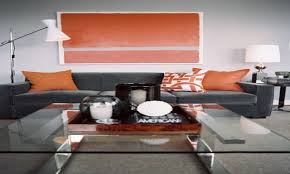 room grey orange living room design decor luxury with grey
