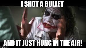 Meme Shot - what would happen if you shot a bullet on a train science abc