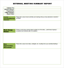 summary report template conference summary report template professional and high quality