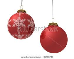 Christmas Decorations On White Background by Christmas Baubles Isolated On White Background Stock Vector